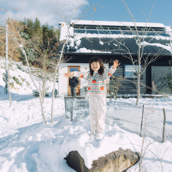 雪が積もりました〜!